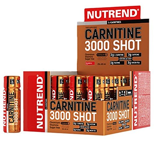 Nutrend CARNITINE 3000 Shot 20x60ml Orange Sports Taurine, Caffeine, Practical monodose, Green Tea Extract, Vitamins B1, B5 and B6, L-carnitine, Taurine, Chromium ()