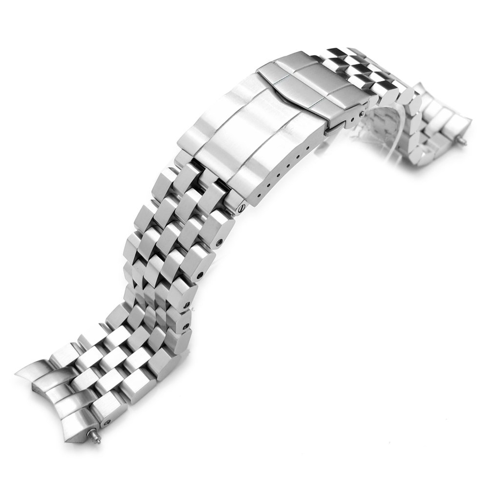 22mm Super Engineer II watch band for SEIKO Diver SKX007/009/011, Solid Submariner Clasp by Seiko Replacement by MiLTAT