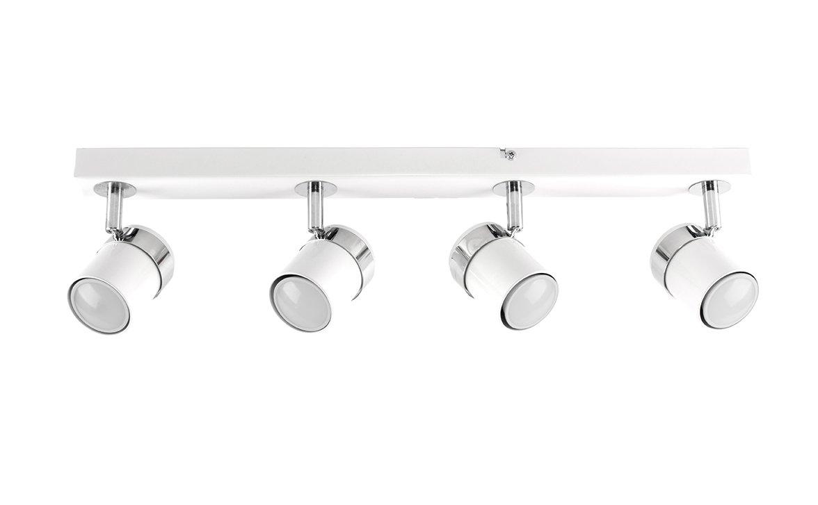 MiniSun Moderno plaf/ón para el techo con 4 focos ajustables y montados en una regleta