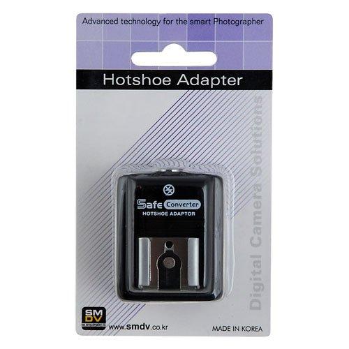 SMDV Hot Shoe Hotshoe Safe Sync Adapter SM-512 for Nikon D40, D40x, D50, D60, D70, D70s, D80, D90, D100, D200, D300, D300s, D700, D800, D800e, D1, D2, D3, D3x, D3s, D4, D3000, D3100, D3200, D5000, D5100, D5200, D7000, Coolpix P7000, P100, P6000, P5100, P5000,