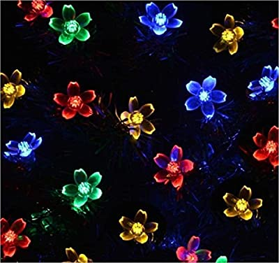 Solar String Lights, EveShine 21ft 50 LED Flower Outdoor Solar Powered Blossom Christmas Lights Decorative Lighting for Garden, Path, Patio, Yard, Home, Halloween, Chrismas Tree, Parties