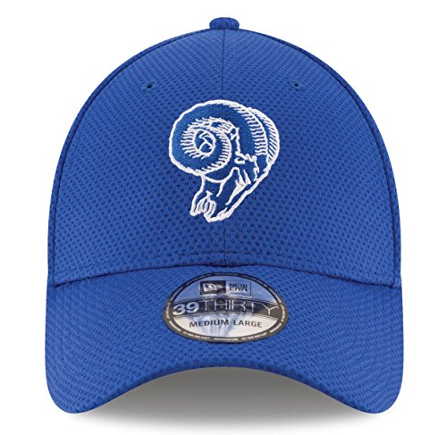 100% Authentic, NWT, New Era NFL LA Los Angeles Rams Throwback Classic logo Blue 39Thirty Hat Cap Flex Fit Size: (Nfl Logo Cap)