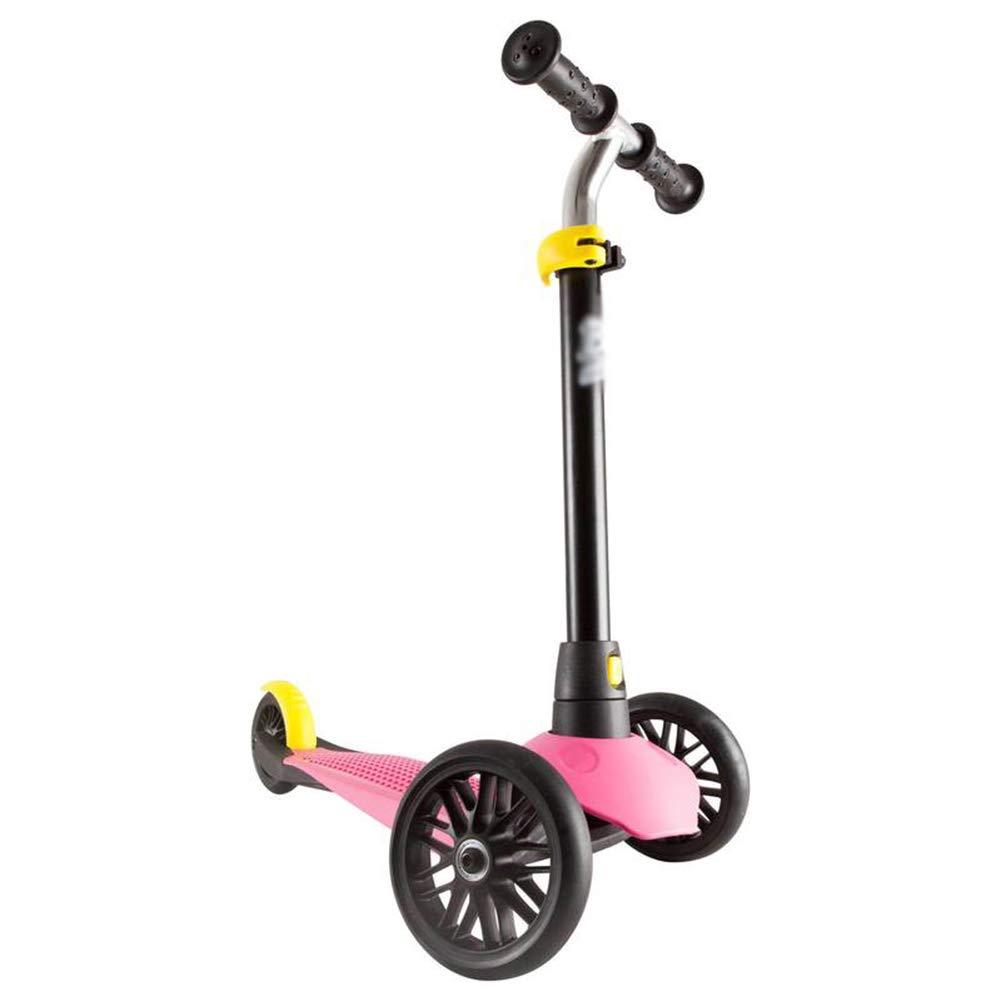 上品な キックスクーター三輪車スケートボードペダル式乗用スタントスクーター調節可能な折りたたみTバーハンドルライトアップホイール付き Pink B07H9NZJM2 B07H9NZJM2 Pink Pink Pink, リビングソウル:c7543876 --- a0267596.xsph.ru
