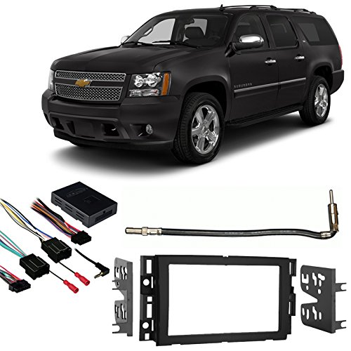 Cheap Fits Chevy Suburban 2007-2013 Double DIN Harness Radio Install Dash Kit