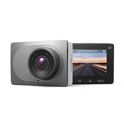 YI Dash Cam 1080p 60fps, 165° Wide Angle Car DVR Dashboard Camera Night Vision Video Recorder with WDR, G-sensor, Loop Recording and Motion Detection