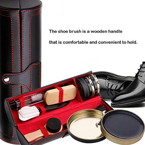 10 Pièces Kit de Cirage Kit d'entretien pour Chaussures Kit Nettoyage Chaussure avec Voyage Étui PU - Très complet… 3