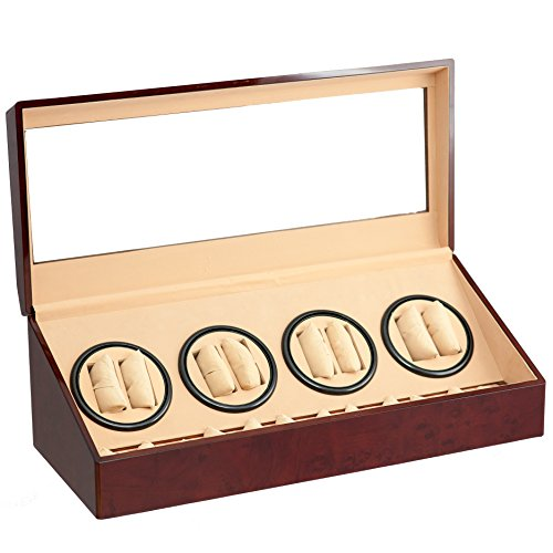 brand-new-8-12-automatic-rotation-burl-wood-quad-watch-winder-storage-display-case-box-organizers