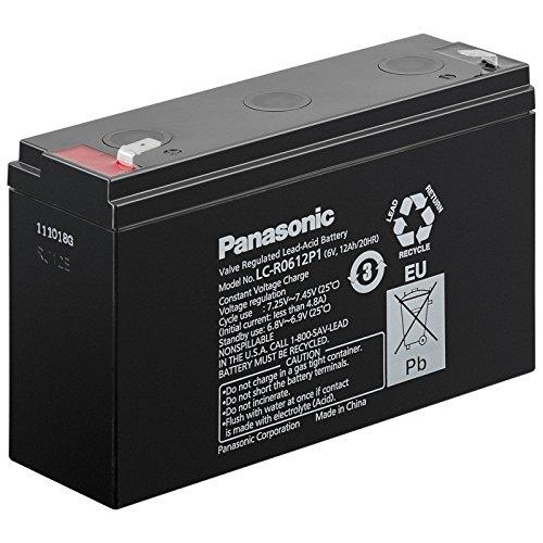 Bleiakku Panasonic Industrial LC-R0612P1 für USV Anlagen, Notbeleuchtung, Alarmanlagen - VDS-zugelassen - PB 6V 12000mAh - Akku-King