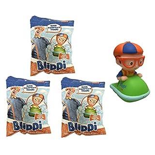 U.C.C. Distributing Blippi Bath Squirt Toy Mystery Pack Lot of 3 - 3 Random Bathtub Squirters Included.
