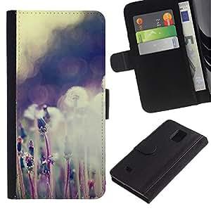 iBinBang / Flip Funda de Cuero Case Cover - Planta Naturaleza Forrest Flor 59 - Samsung Galaxy Note 4 SM-N910