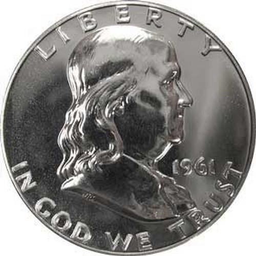 Franklin Half Dollar Silver Coin - 1961 P SILVER Gem Proof Franklin Half Dollar US Coin