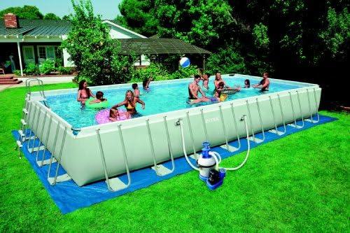 Intex 12 – 54986 Ultra Quadra III Frame Pool Set, 975 X 488 X 132 ...
