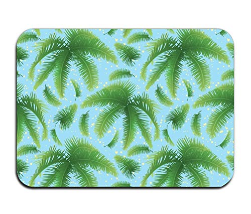 Fitch Forster Leaves and Skky Rubber Non-Slip Entry Way Floor Mat Outdoor Indoor Decor Rug Doormats
