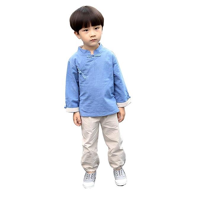 Amazon.com: Trajes chinos de verano de algodón para niños y ...