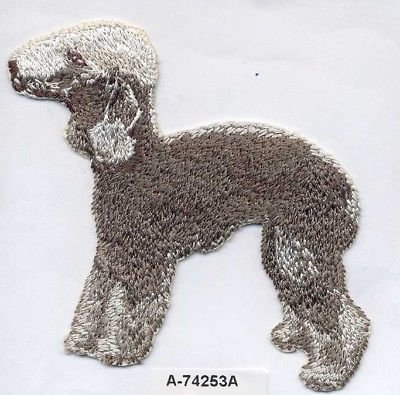 Bedlington Terrier Dog Breed Embroidery Patch