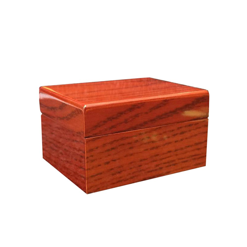 TG High-End Watches Jewelry Bracelets Display Collection Storage Boxes Cases Solid Wood Vintage 1 Large Capacity Brown