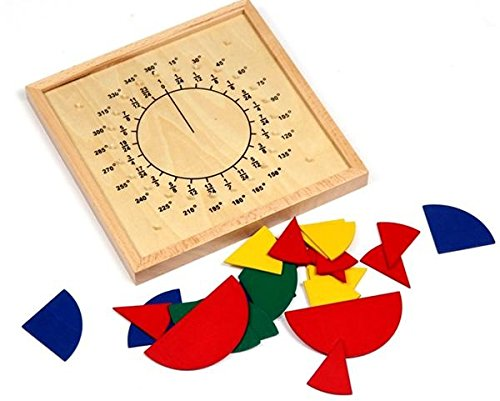 Wooden Fraction Circles Board Montessori Teaching Aids Math Game Manipulatives For Preschooler Educational Toys