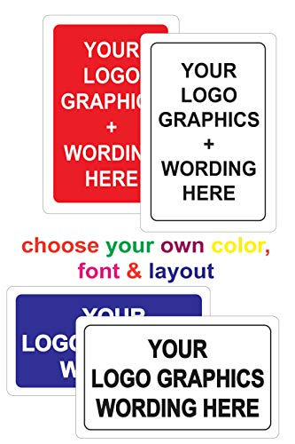 Custom Acrylic Sign - Your Company Logo/Graphics, Message, Colors & Fonts - Corporate Name & Address, Office Hours, Services, Compliance, Notice, Direction 12