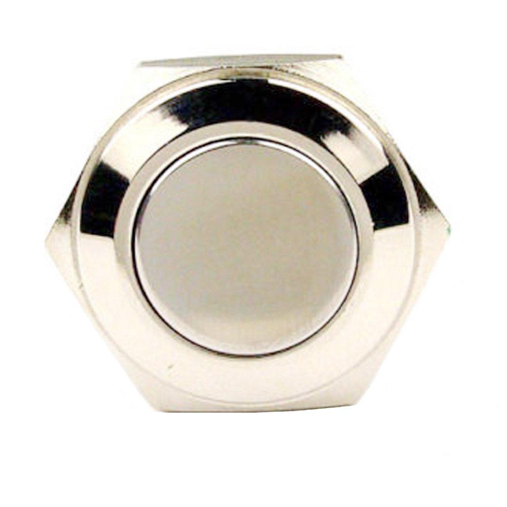 E Support 5 X 19mm Hochkopf KFZ Auto Boot Kippschalter Druckschalter Schalter Drucktaster Druckknopf 12V Metall Momentane