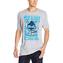 FunKo mens Pop! T-shirts: Disney - Stitch Elvis Luau