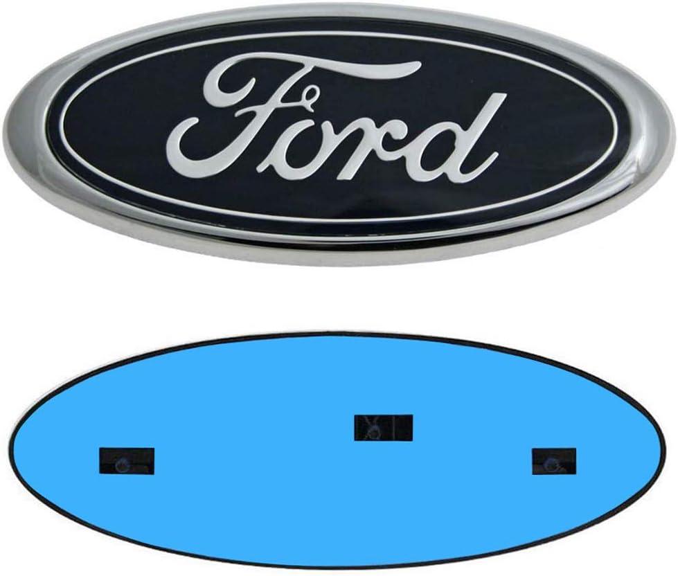 F150 Emblem Oval 9X3.5 Ford Front Grille Emblem Decal Badge Nameplate Also Fits for 04-14 F250 F350 11-16 Explorer 06-11 Ranger 11-14 Edge 9inch Ford Tailgate Emblem