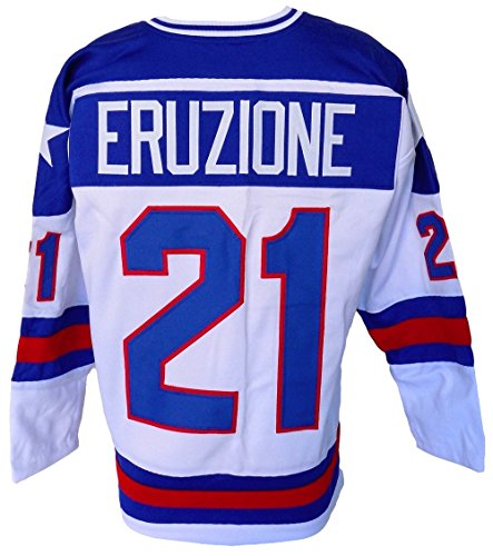 Mike Eruzione Usa Miracle On Ice Unsigned Custom Hockey Jersey  C  Size Xl   High Quality Jersey
