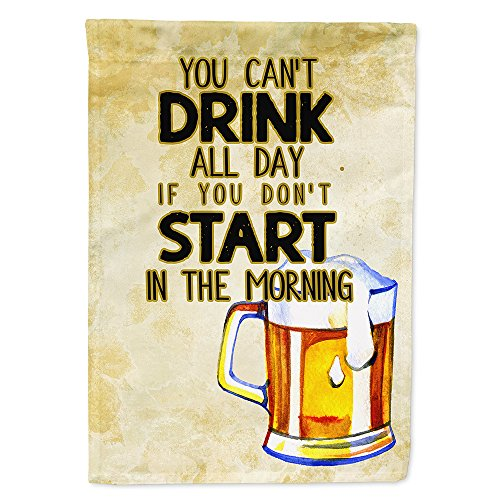 - Caroline's Treasures BB5412GF Start Drinking in The Morning Beer Flag Garden Size, Small, Multicolor