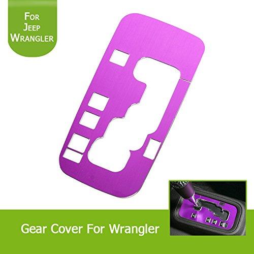 Highitem New 1Pcs Aluminum Inner Accessories Trim Gear Frame Cover for Jeep Wrangler 2011-2016 (Purple) by Highitem (Image #5)