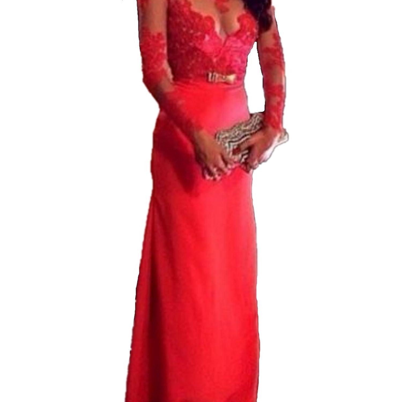 emin damen abendkleider lang festlich elegant sexy kleider partykleid abschlussball festlich rot. Black Bedroom Furniture Sets. Home Design Ideas