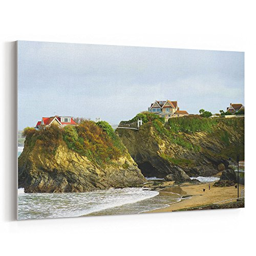 (Westlake Art - Coast Sea - 16x24 Canvas Print Wall Art - Canvas Stretched Gallery Wrap Modern Picture Photography Artwork - Ready to Hang 16x24 Inch)