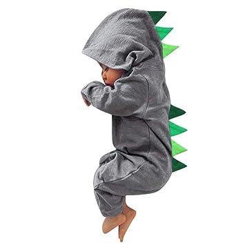 d992ff04e9599 パジャマ アンサンブル YOKINO かわいい 小恐竜 ロンパース ベビー服 女の子 赤ちゃん服 幼児 子供服 男の子 フード