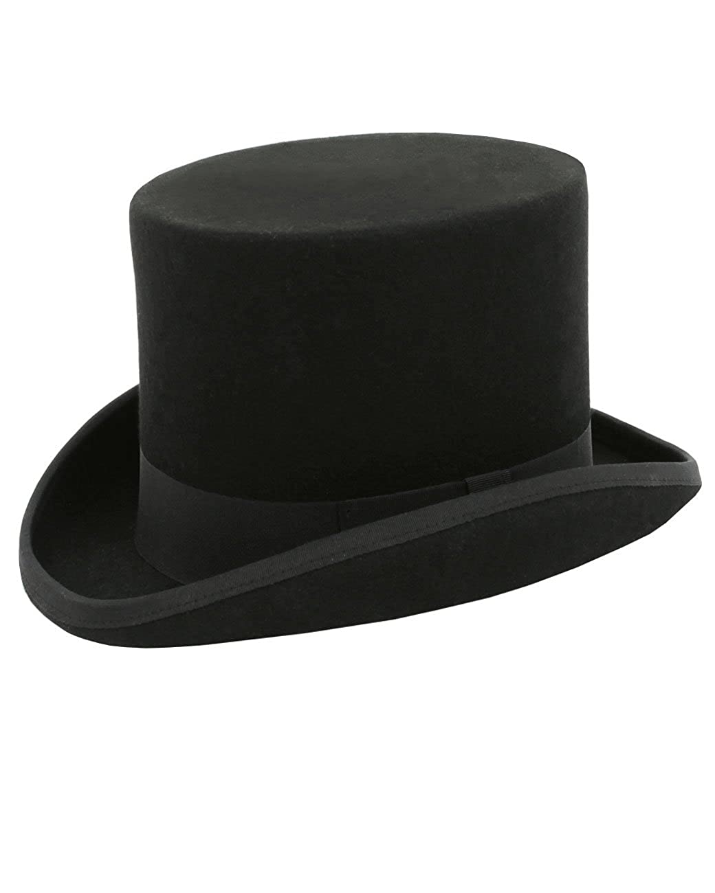 Steampunk Hats | Top Hats | Bowler Dobell Mens Black Top Hat 100% Wool Formal Wedding Races $69.95 AT vintagedancer.com