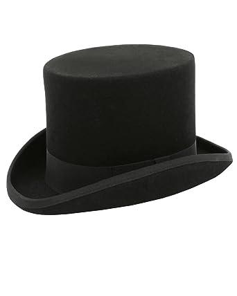 9f2d6e07d4cb Dobell Boys Black Top Hat 100% Wool Classic Formal Wedding-M (51cm)