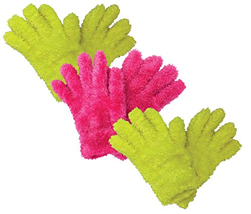 (3 multipack kids girls childrens colourful magic gloves for cold weather (One Size, FMG02))
