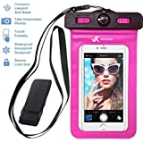 ⚡ Voxkin Premium Quality Universal Waterproof Case with Armband, Compass, Lanyard - Best Water Proof, Dustproof, Snowproof Pouch Bag for iPhone 7, 6S, 6, Plus, 5S, Samsung Galaxy Phone, S6, Note 5, 4