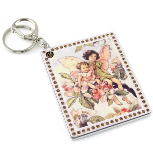 Floral Fairy - Square Sliding Compact Pocket - Compact Keychain Mirror