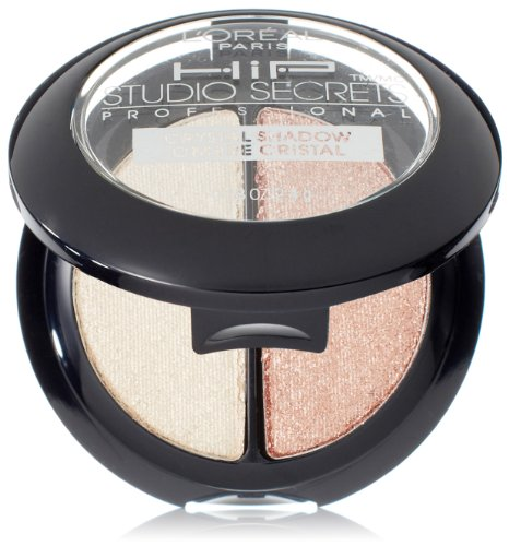 Glimmer Favor - L'Orea Paris HiP Studio Secrets Professional Crystal Eye Shadow Duos, Precious, 0.08 Ounces