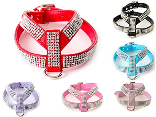 Dog Harness Comes with Free Charm for XSmall and Small Breeds Only (Size 1 fits Chest 8.5