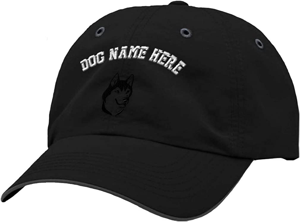 Custom Richardson Running Cap Siberian Husky Face Embroidery Dog Name Polyester