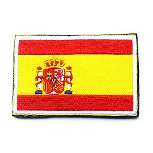 Spain Flag Patch - ShowPlus Spain ES Flag Military Embroidered Tactical Patch Morale Shoulder Applique
