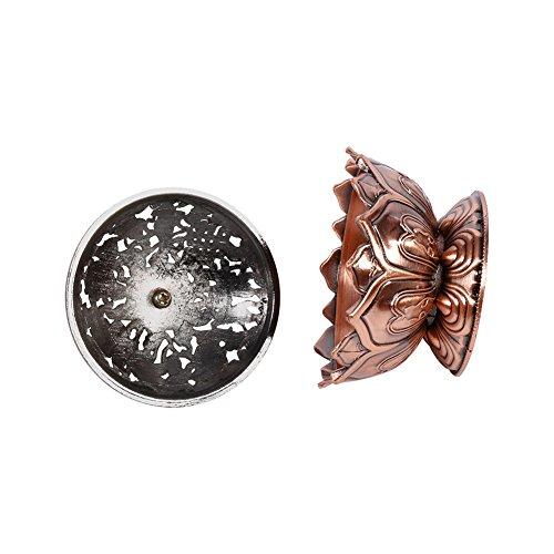 Quemador de incienso de cerámica china y decoración de porcelana Carbón de incienso titular, bronce / rojo de bronce (...