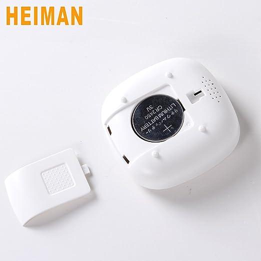 Heiman Smart Home control sensor de temperatura interior y humedad color blanco hs1ht: Amazon.es: Industria, empresas y ciencia