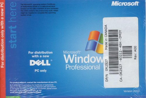 DELL Windows XP Professional SP1a Reinstallation CD Microsoft - Service Pack 1a - sealed, brand new - PER MICROSOFT THIS INCLUDES A PIECE OF HARDWARE SUCH AS A MOTHERBOARD FOR PARTS ONLY