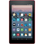Fire 7 Tablet with Alexa, 7″ Display, 8 GB, Punch Red – with Special Offers