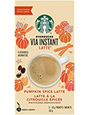 Starbucks Via Instant Pumpkin Spice Latte Specialty Coffee Beverage Mix, 5 X 32g Sachets (Pack of 6), 30 Count, Pumpkin Spice Latte Pack of 6