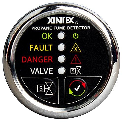 - Fireboy-Xintex Xintex Xintex Propane Fume Detector w/Plastic Sensor & Solenoid Valve - Chrome Bezel Display