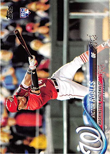 2018 Topps #166 Victor Robles Washington Nationals Rookie Baseball Card