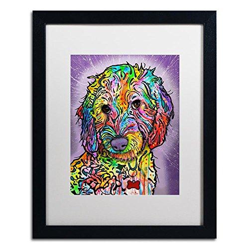 Poodle Frame (Trademark Fine Art Sweet Poodle by Dean Russo, White Matte, Black Frame 16x20-Inch)