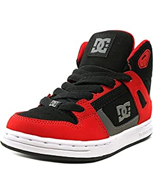 Shoes Rebound High Youth Round Toe Suede Red Skate Shoe