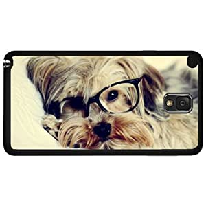 Hipster Yorkie Puppy with Glasses on Hard Snap on Phone Case (Note 2 II)